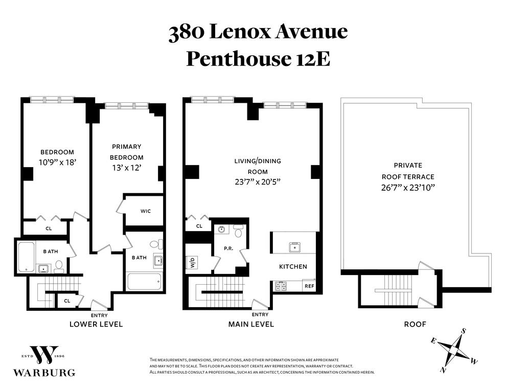 Unit PH12E at 380 Lenox Avenue, New York, NY 10027