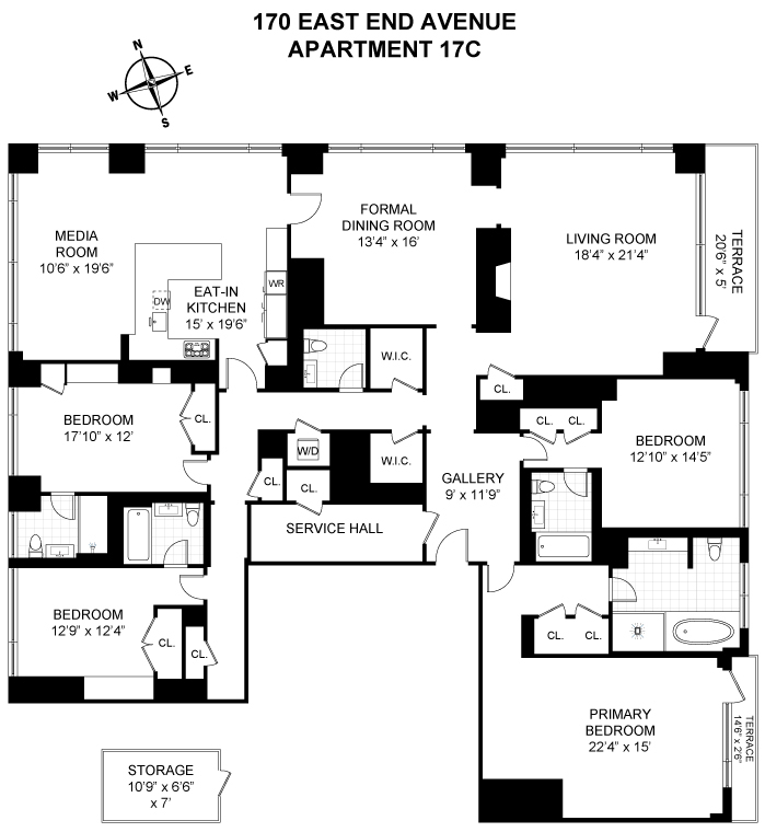 Unit 17C at 170 East End Avenue, New York, NY 10128