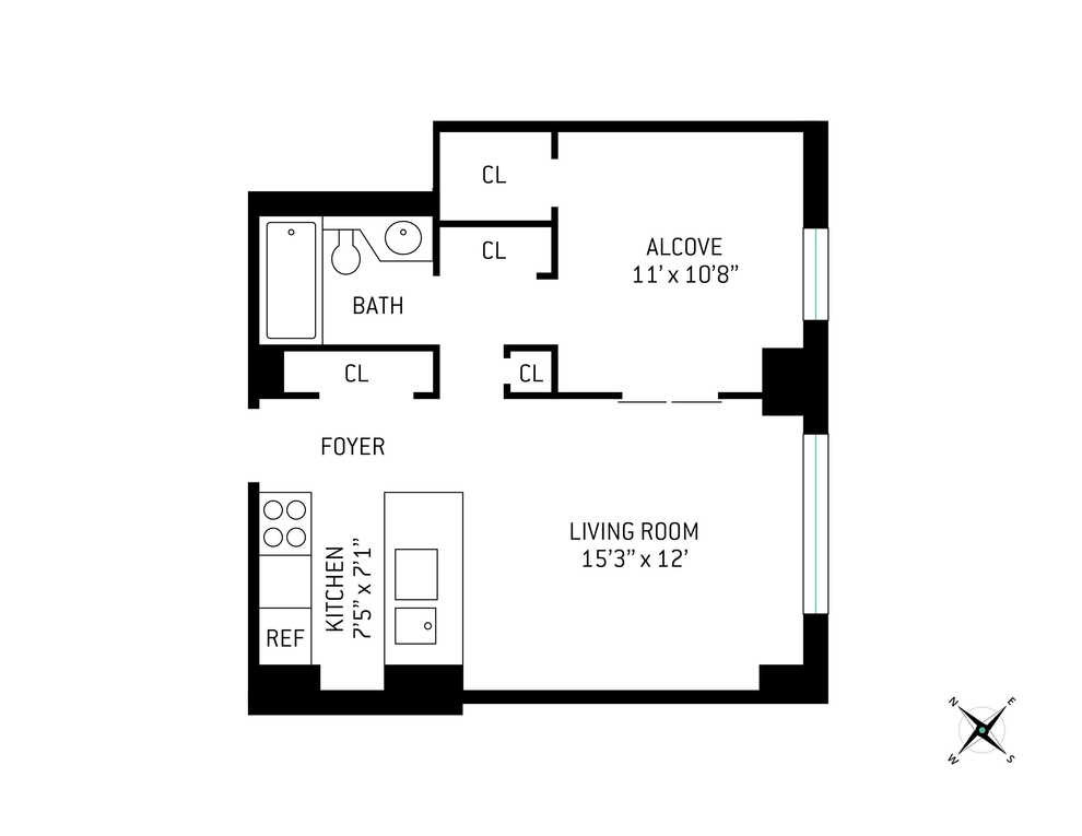 Unit 9T at 200 Rector Place, New York, NY 10280