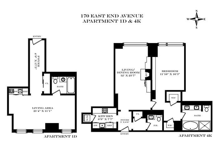 Unit 4K1D at 170 East End Avenue, New York, NY 10128