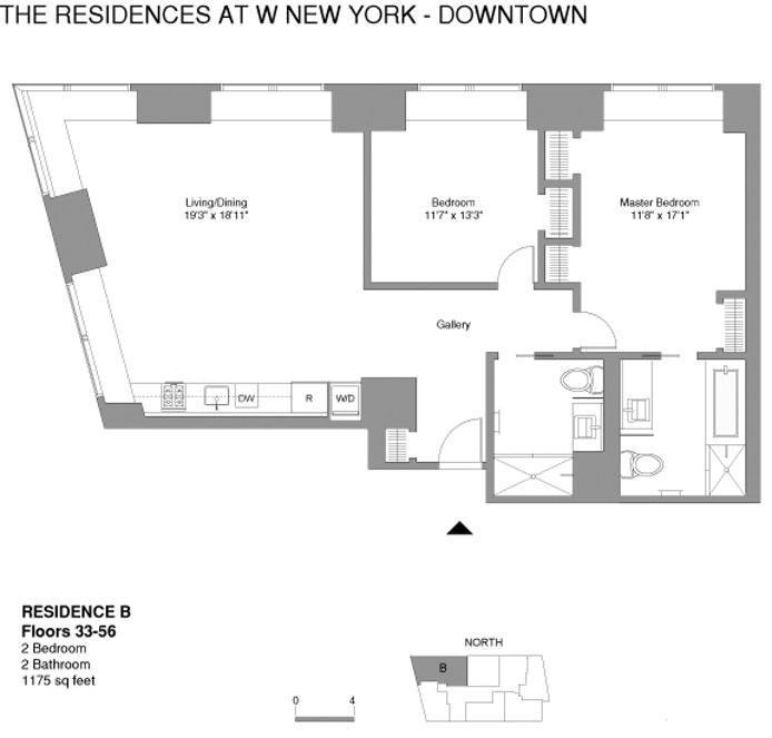 Unit 45B at 123 Washington Street, New York, NY 10006