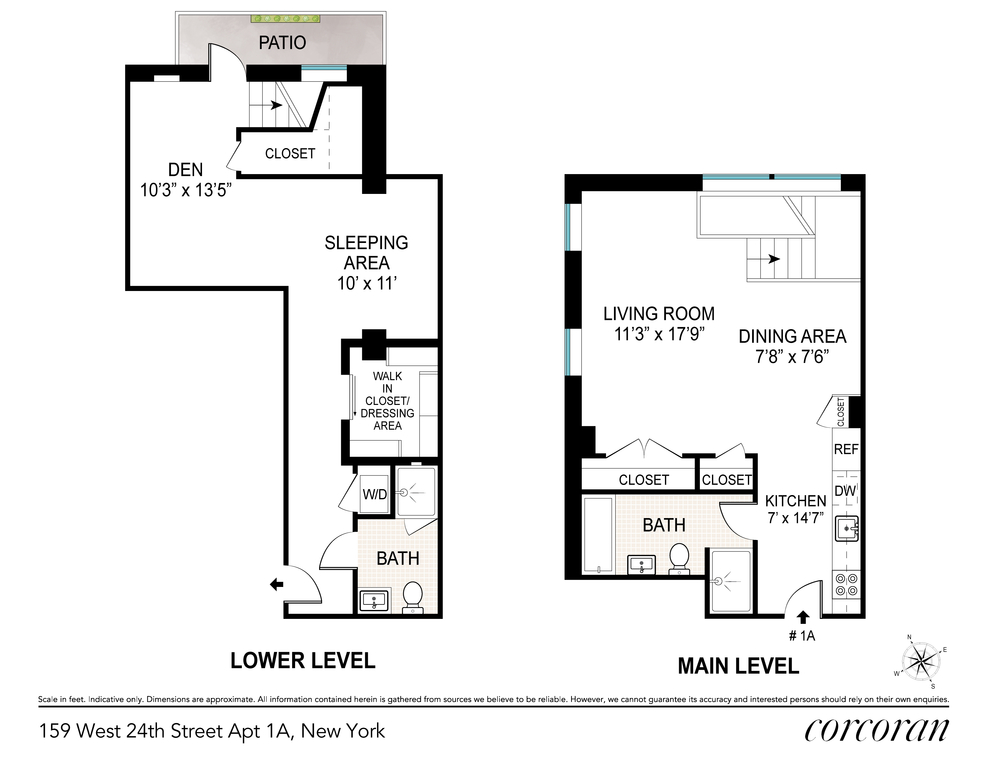 Unit TH1A at 159 West 24th Street, New York, NY 10001