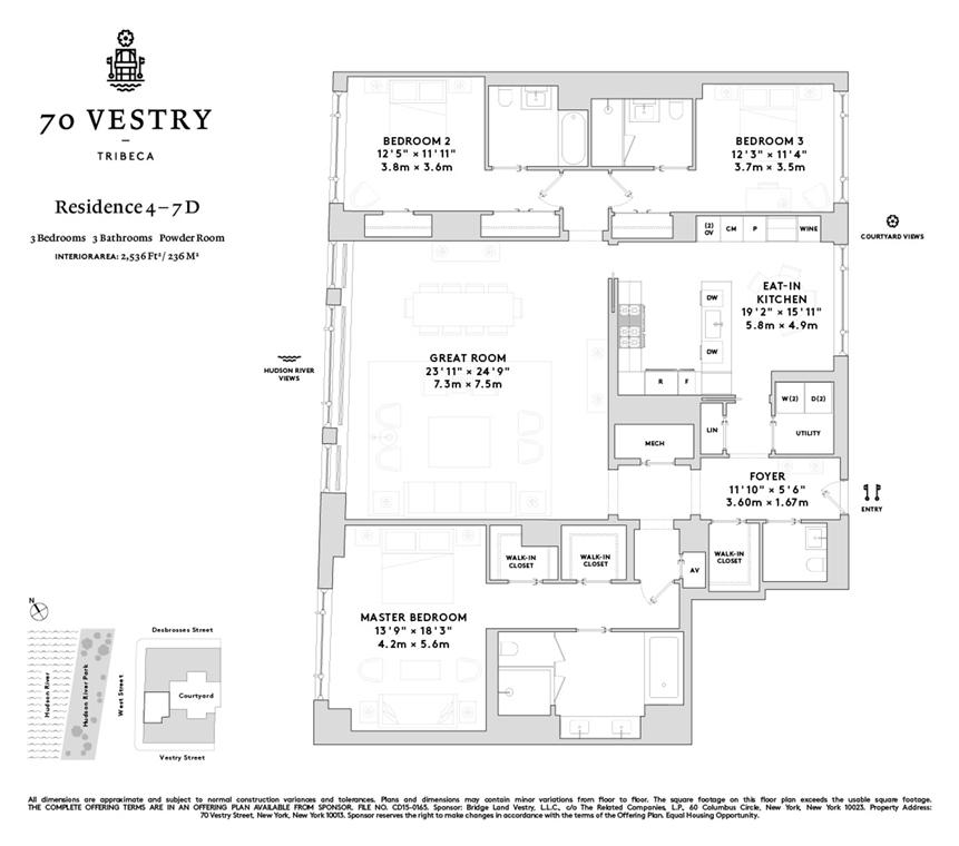 Unit 4D at 70 Vestry Street, New York, NY 10013