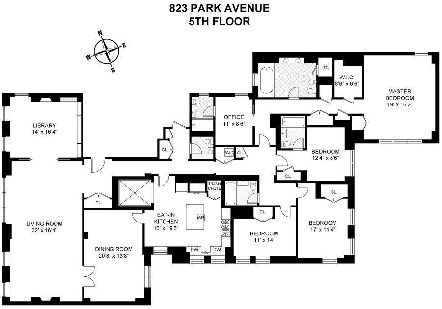 Unit DUPLEX56 at 823 Park Avenue, New York, NY 10021