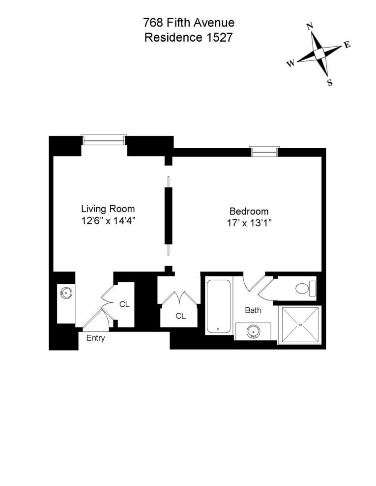Unit 1527 at 768 5th Avenue, New York, NY 10019