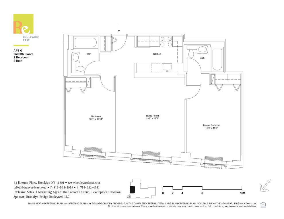 53 Boerum Place #5G, Brooklyn, NY 11201: Sales, Floorplans