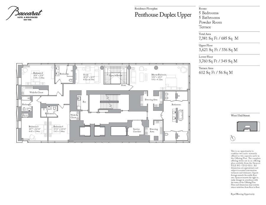 20 West 53rd Street Ph New York Ny 10019 Sales Floorplans Property Records Realtyhop