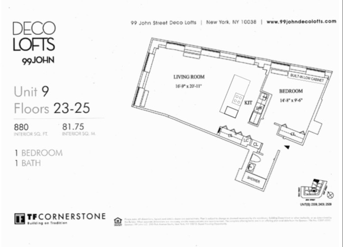Floorplans At 99 John Street New York NY 10038