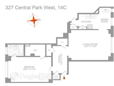 Unit 14C at 327 Central Park West, New York, NY 10025
