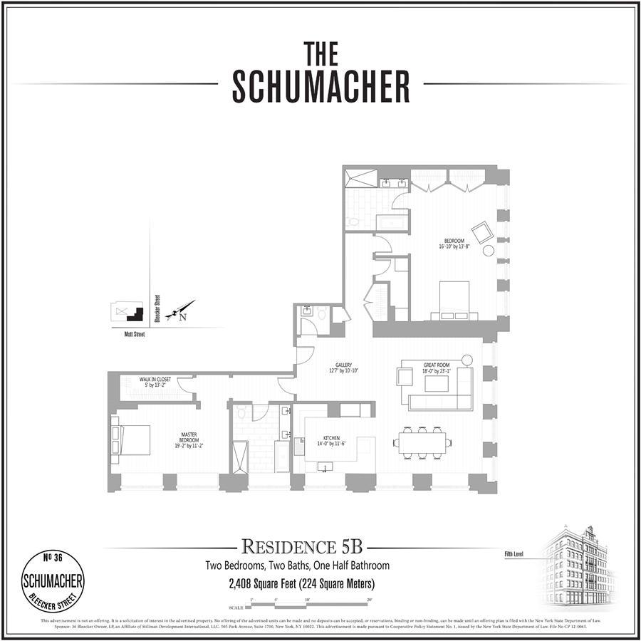 Unit 5B at 36 Bleecker Street, New York, NY 10012