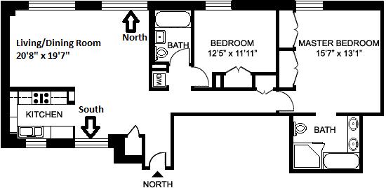 Unit 8B at 200 West 24th Street, New York, NY 10011