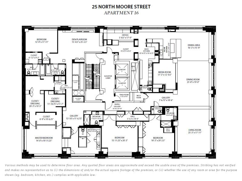 25 North Moore Street, New York, NY 10013: Sales, Floorplans