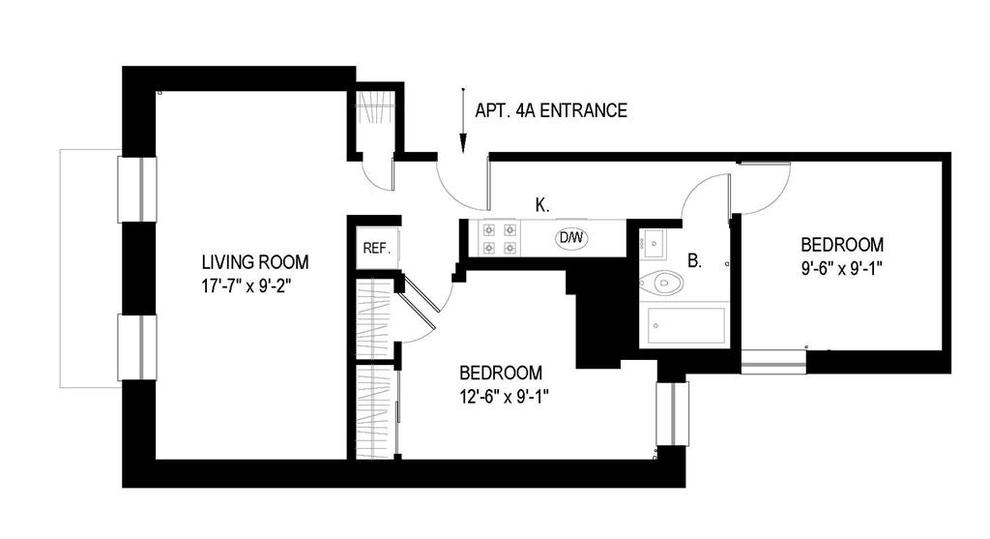 Unit 4A at 66 West 84th Street, New York, NY 10024