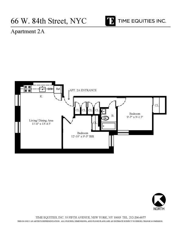 Unit 2A at 66 West 84th Street, New York, NY 10024