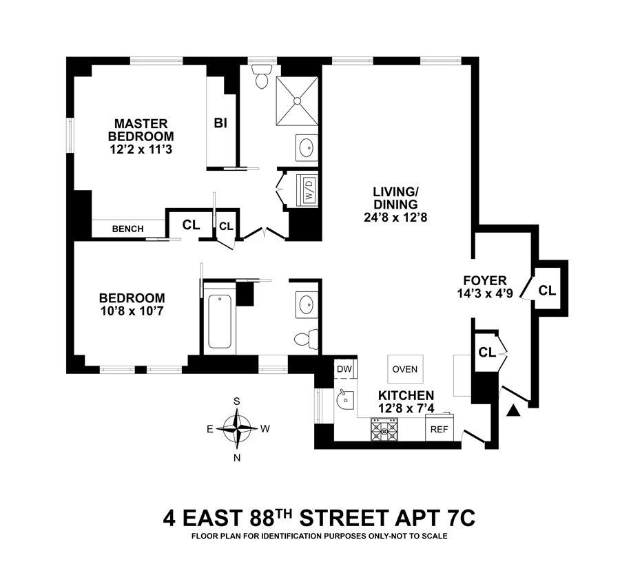 Unit 7C at 4 East 88th Street, New York, NY 10128