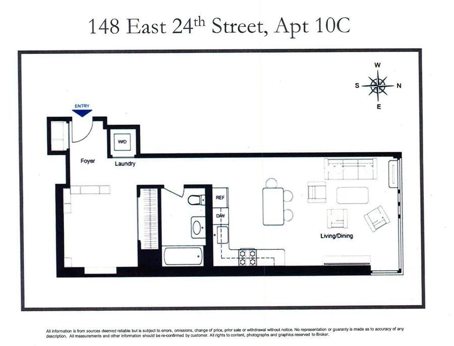 Unit 10C at 148 East 24th Street, New York, NY 10010