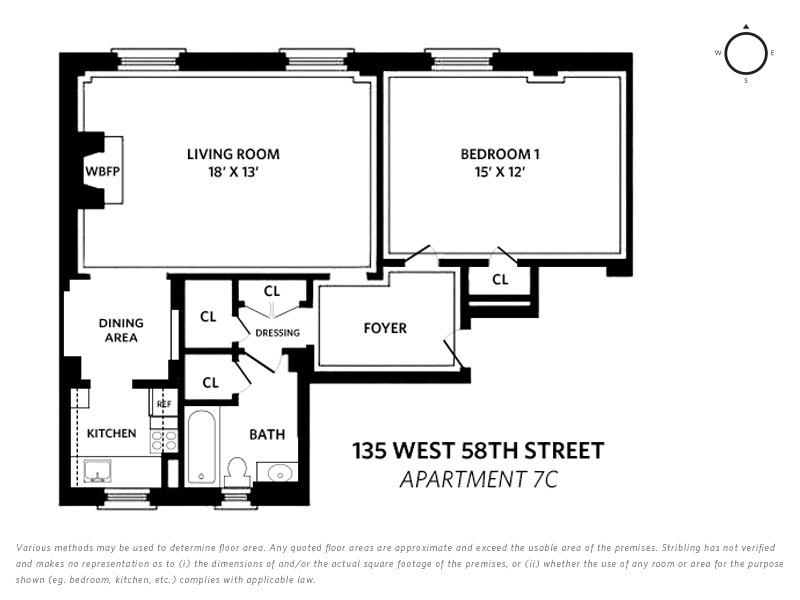Unit 7C at 135 West 58th Street, New York, NY 10019
