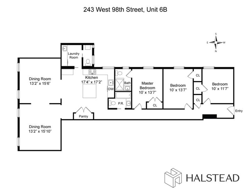 Unit 6B at 243 West 98th Street, New York, NY 10025