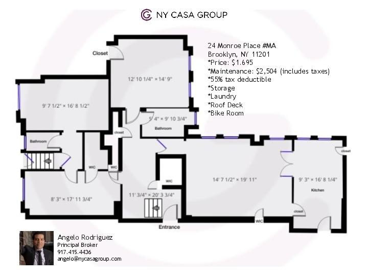 Unit MA at 24 Monroe Place, Brooklyn, NY 11201