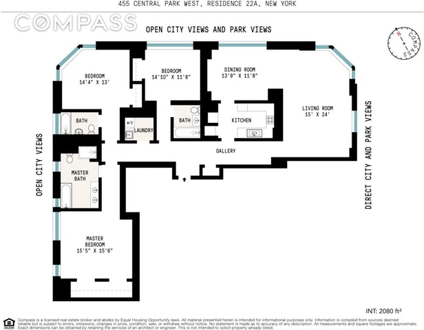 Unit 22A at 455 Central Park West, New York, NY 10025