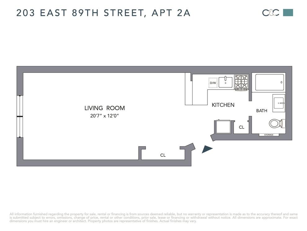 Unit 2A at 203 East 89th Street, New York, NY 10128