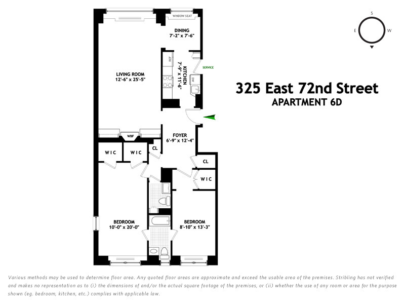 Unit 6D at 325 East 72nd Street, New York, NY 10021