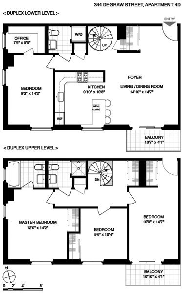 Unit 4D at 344 Degraw Street, Brooklyn, NY 11231