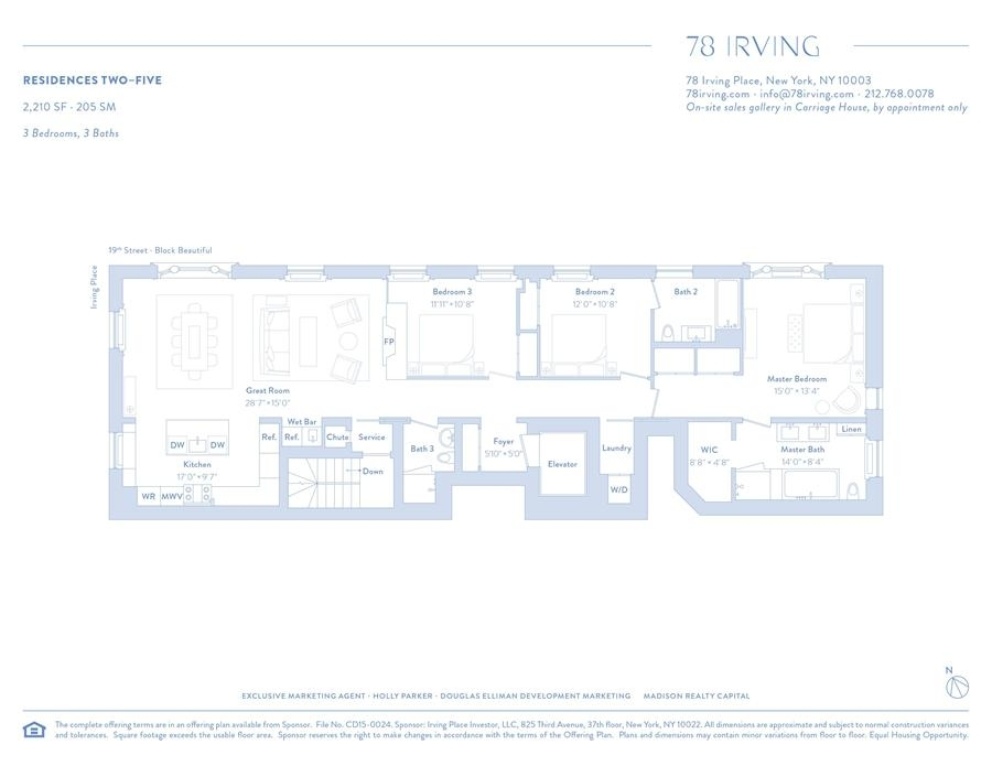 Unit 2 at 78 Irving Place, New York, NY 10003
