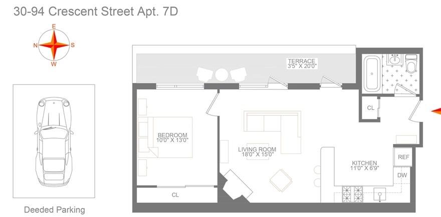 Unit 7D at 30-94 Crescent Street, Astoria, NY 11102