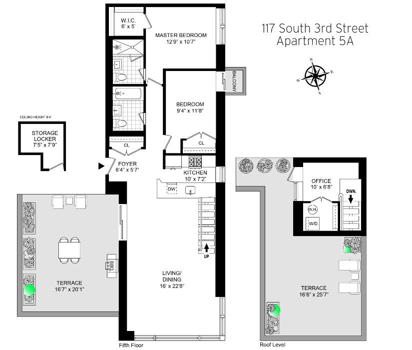 Unit 5A at 117 South 3rd Street, Brooklyn, NY 11249