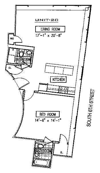 Unit 2C at 24 Dunham Place, Brooklyn, NY 11249