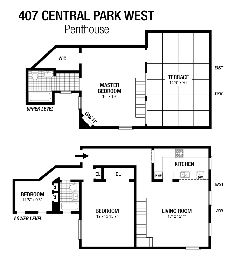 Unit PHC at 407 Central Park West, New York, NY 10025