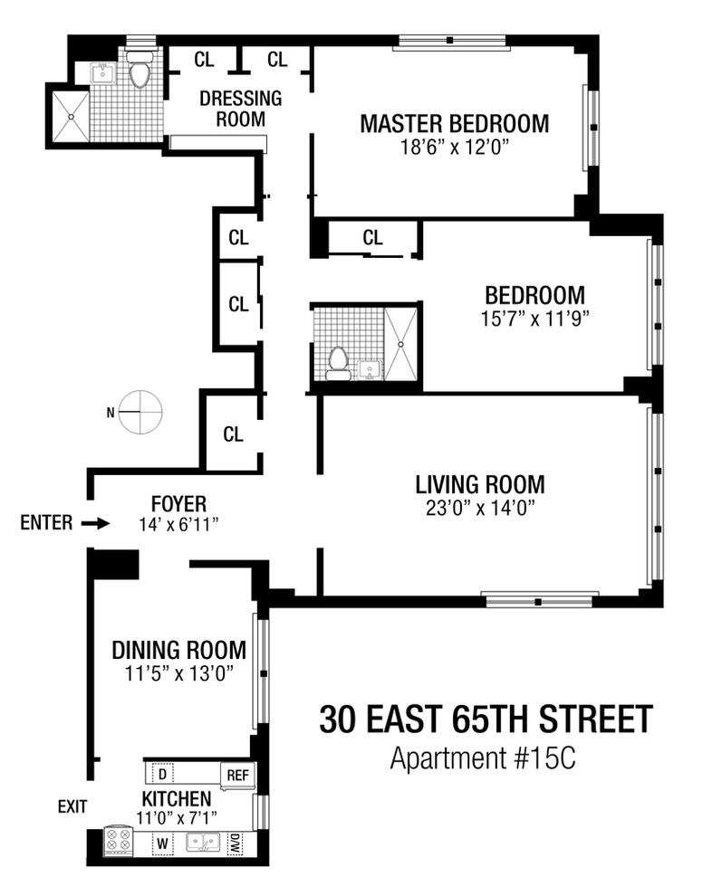 Unit 15C at 30 East 65th Street, New York, NY 10065