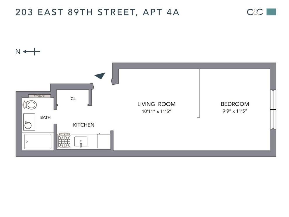 Unit 4A at 203 East 89th Street, New York, NY 10128