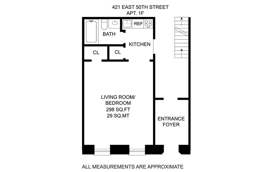 Unit 1F at 421 East 50th Street, New York, NY 10022