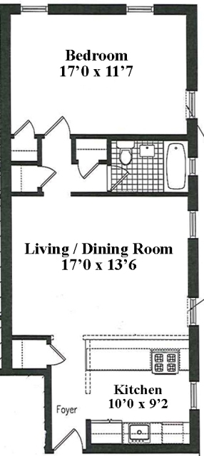 Unit 4A at 407 Central Park West, New York, NY 10025