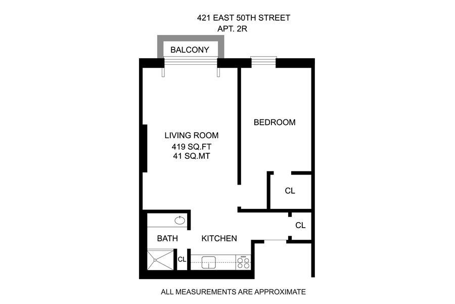 Unit 2R at 421 East 50th Street, New York, NY 10022