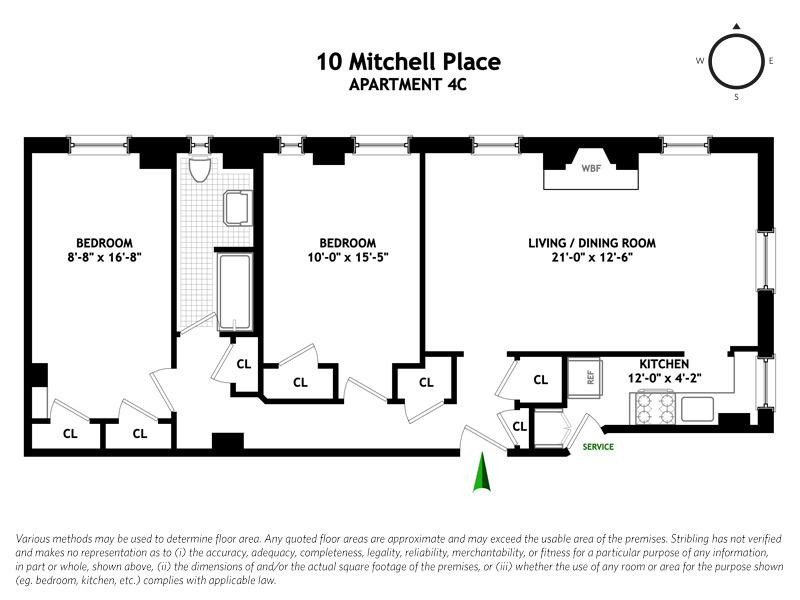 Unit 4C at 10 Mitchell Place, New York, NY 10017