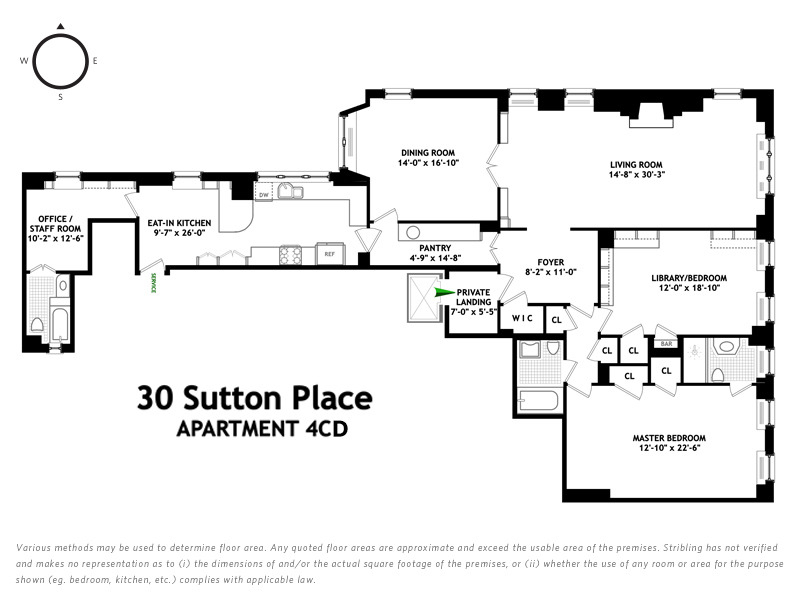 Unit 4CD at 30 Sutton Place, New York, NY 10022