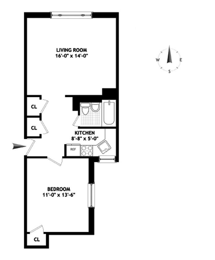 Unit 5B at 12 West 9th Street, New York, NY 10011