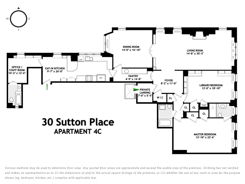 Unit 4C at 30 Sutton Place, New York, NY 10022
