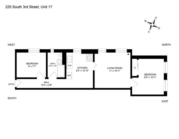 Unit 17 at 225 South 3rd Street, Brooklyn, NY 11211