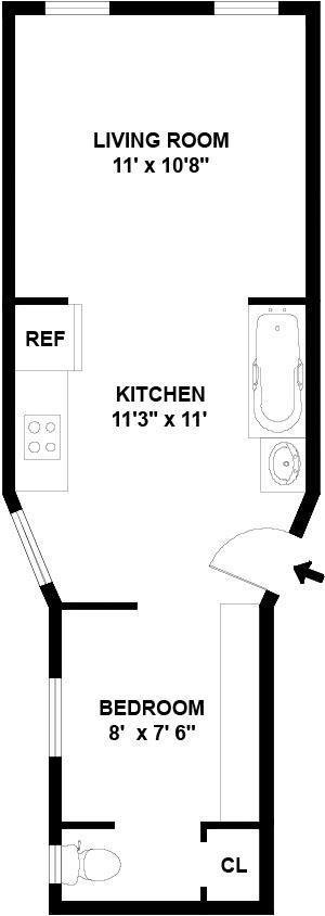 Unit 11 at 206 East 7th Street, New York, NY 10009