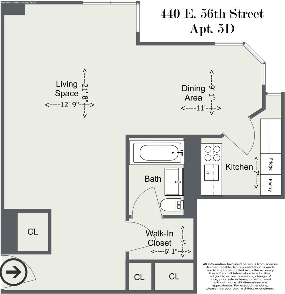Unit 5D at 440 East 56th Street, New York, NY 10022