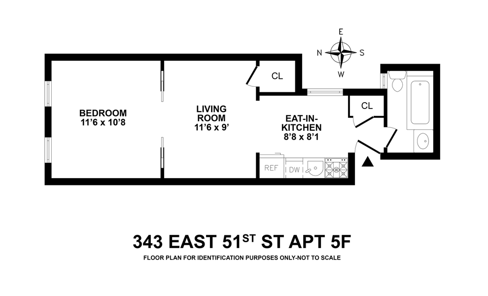 Unit 5F at 343 East 51st Street, New York, NY 10022