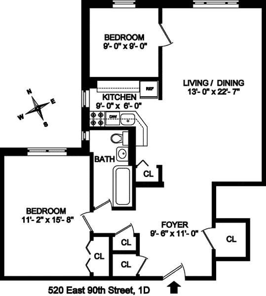 Unit 1D at 520 East 90th Street, New York, NY 10128