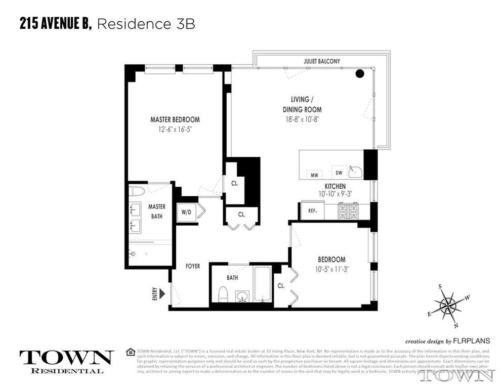Unit 3B at 215 Avenue B, New York, NY 10009