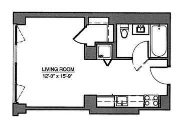 Unit 2C at 215 Avenue B, New York, NY 10009
