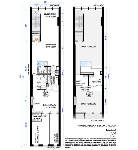 710 Broadway, New York, NY 10003: Sales, Floorplans