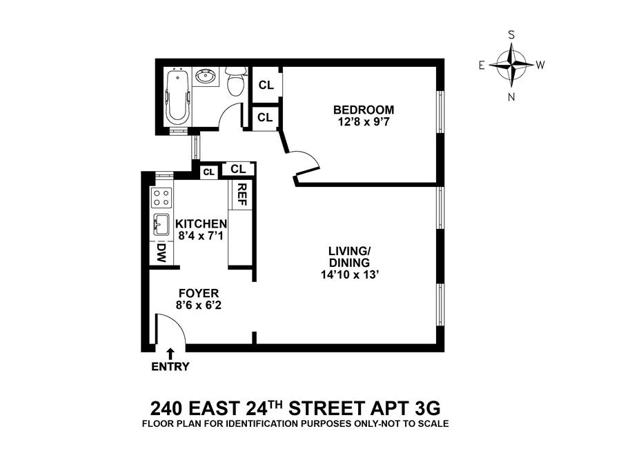 Unit 3G at 240 East 24th Street, New York, NY 10010